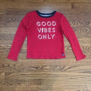 "Gap girls ""good vibes only"" long sleeve tee"